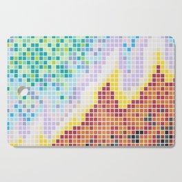 Pixelated Nebula Red Cutting Board