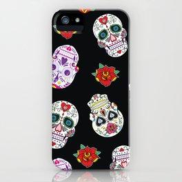 Sugar Skull Pattern iPhone Case