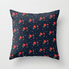 Classic western rose pattern Throw Pillow