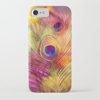 peacock feather iPhone & iPod Cases featuring peacock feather by Sylvia Cook Photography