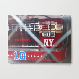 New York City Fire Truck Metal Print