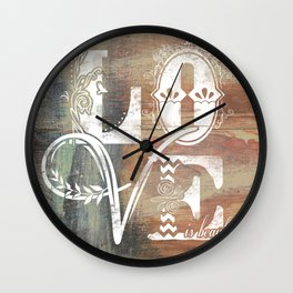 Love is beautiful Wall Clock