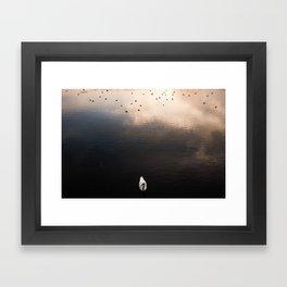 Swan, River Clyde Framed Art Print