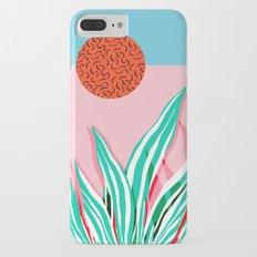 Freakin' - memphis throwback style palm springs neon art print 1980s vintage desert road trippin iPhone 7 Plus Slim Case