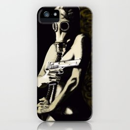 Gas Mask Girl iPhone Case