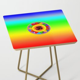 Ohm with Chakra Colours Side Table