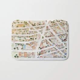 Greenwich Village Map by Harlem Sketches Bath Mat