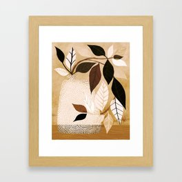 Earthy Ivy / Whimsical Plant Illustration Framed Art Print