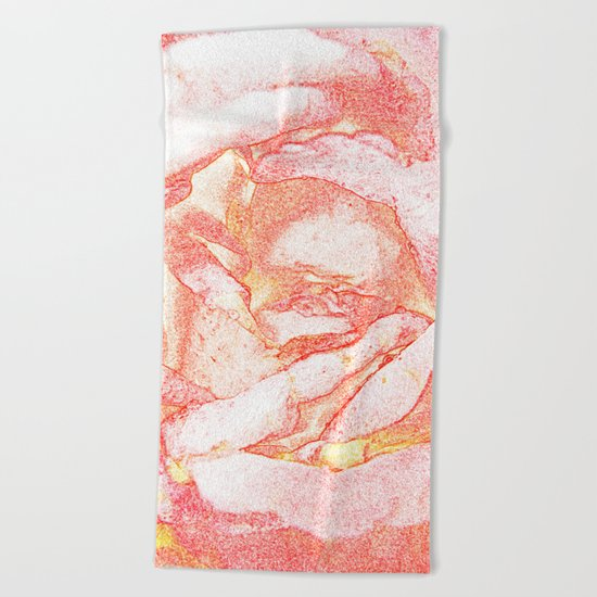 TENDER FLOWER Beach Towel
