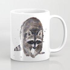RACOON painting, wilderness nursery art, woodland animal art, racoon watercolor, cute racoon print Mug