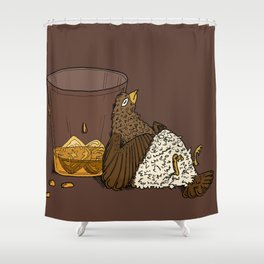 Thirsty Grouse - Colored! Shower Curtain