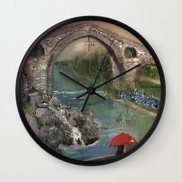 The Roman Bridge, Asturias  Wall Clock