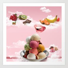 Ice-cream Art Print