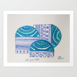 Let's just teeter Art Print