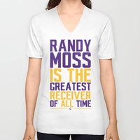 randy c V-neck T-shirts featuring Randy Moss by Couch Coaches