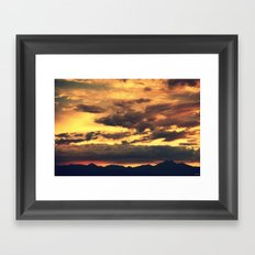 Summer Sunset Framed Art Print