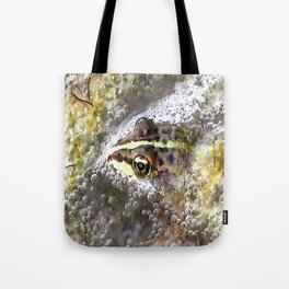 I'm Forever Blowing Bubbles Cute Frog Tote Bag