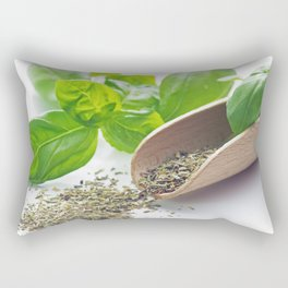 Basil herbs for kitchen Rectangular Pillow