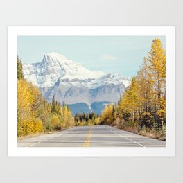 Autumn Mountain Road - Fall Landscape, Nature Photography Art Print