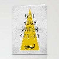 sci fi Stationery Cards featuring watch sci-fi by alex lodermeier