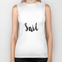 sail Biker Tanks featuring Sail by Ashley Schaffert