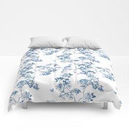 Chinoiserie in White Comforters