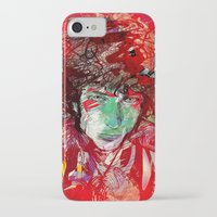 bob dylan iPhone & iPod Cases featuring Bob Dylan by Irmak Akcadogan