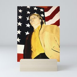 Stars and Stripes self portrait Mini Art Print