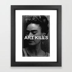 ART KILLS - FRIDA KAHLO Framed Art Print