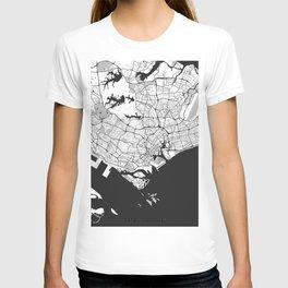 Singapore Map Gray T-shirt