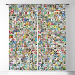 Philately Copa Mundial Soccer Cleats Blackout Curtain
