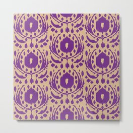 flower ikat Metal Print