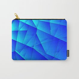 Bright sea pattern of heavenly and blue triangles and irregularly shaped lines. Carry-All Pouch