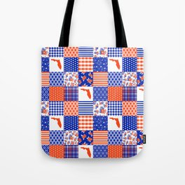 Florida University gators swamp life varsity team spirit college football quilted pattern gifts Tote Bag