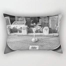 Viewfinder at Rockefeller Center rooftop Rectangular Pillow