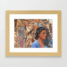 The Bright Fire Framed Art Print