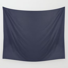 Navy Blue Streaky Hand Painted Watercolor Wall Tapestry