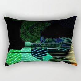 Abstract Alpha Grid Rectangular Pillow