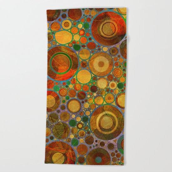 Abstract Circles Pattern 2 Beach Towel