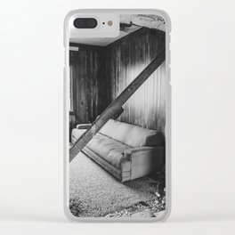 The Yellow House, Arena, North Dakota 19 Clear iPhone Case