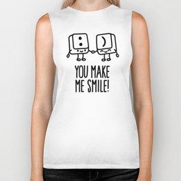 You make me smile Biker Tank