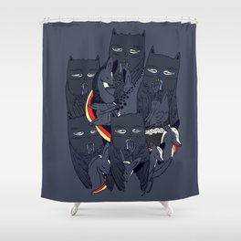 Yawn Shower Curtain