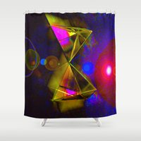 prism Shower Curtains featuring Blackhole Prism by The Digital Weaver