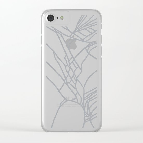 Cracked White on Grey Clear iPhone Case