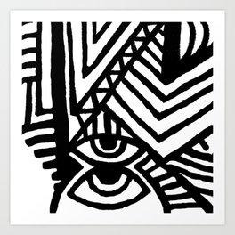 SPCSHP indigo Art Print