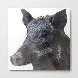 Wild Boar Vector Metal Print