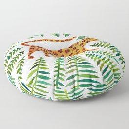 Jaguar – Green Leaves Floor Pillow