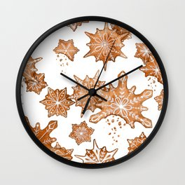 Gingerbread Cookie Blizzard Wall Clock