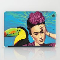 frida kahlo iPad Cases featuring Frida Kahlo by Brad Collins Art & Illustration