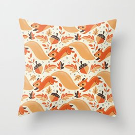 Adorably Squirrely Throw Pillow
